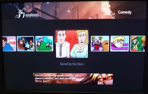 Newgrounds on Roku