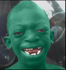 I found the Black Shrek.