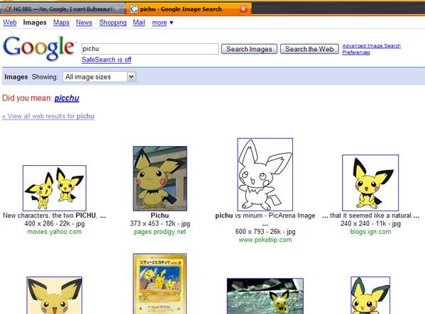 No, Google, I want Bulbasaur!