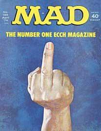 Middle finger..