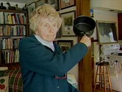 70 Year Old Pan Swinging Grandma