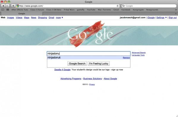 I disappeared from Google drop menu