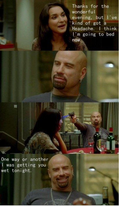 You don't fuck with john travolta