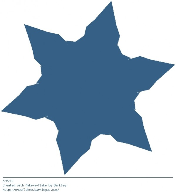 Make a virtual snowflake. Awesome.