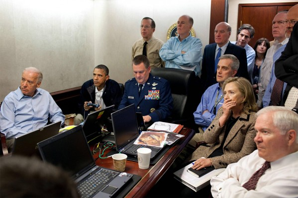 Hillary Clinton erased from photo