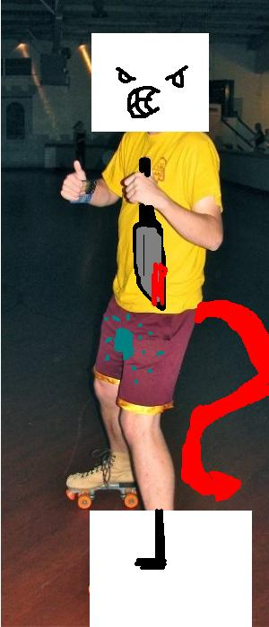 Photoshop me rollerskating!