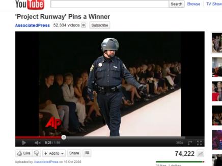 Photoshop Pepper Spray Cop