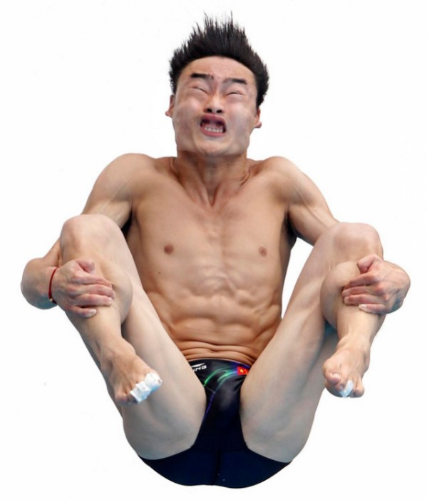 Photoshop this Olympic Diver
