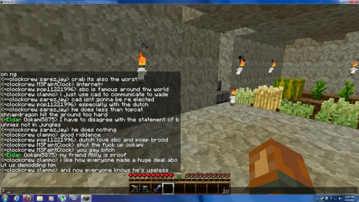 Clockrew trolls Minecraft, haha.
