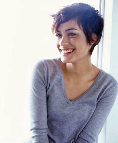 Women with short hair