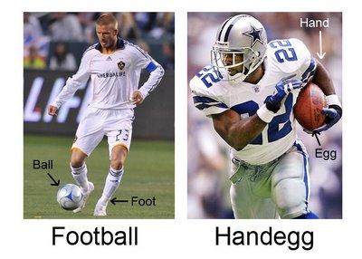 America vs Football