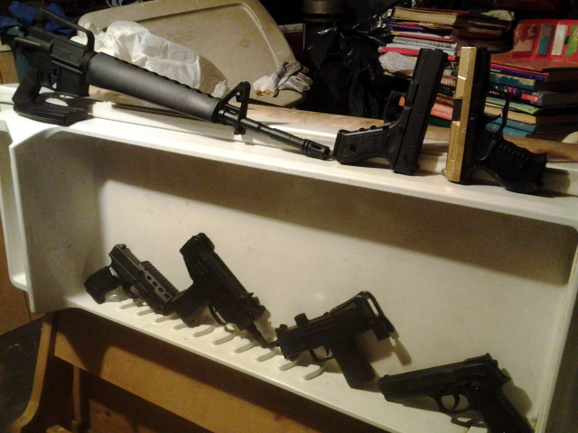 My collection of firearms