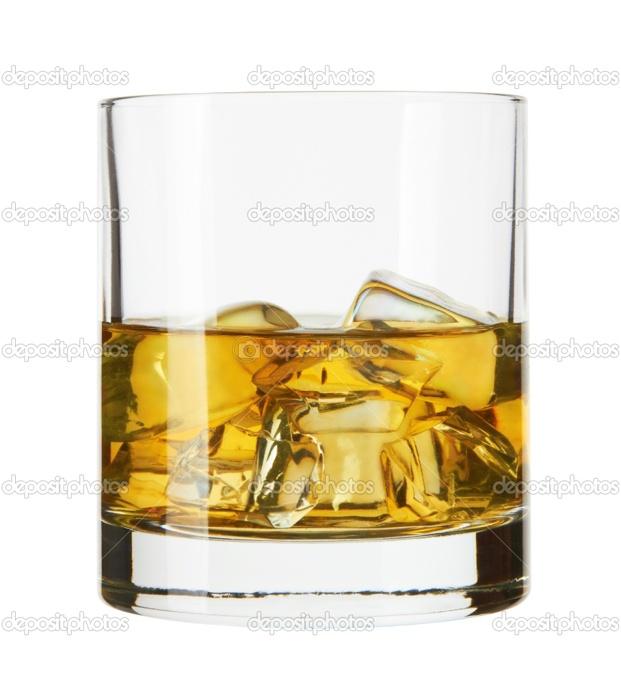 Half Full Glasses of Alcohol