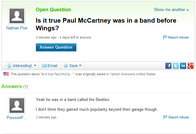 Is Yahoo Answers really that bad?