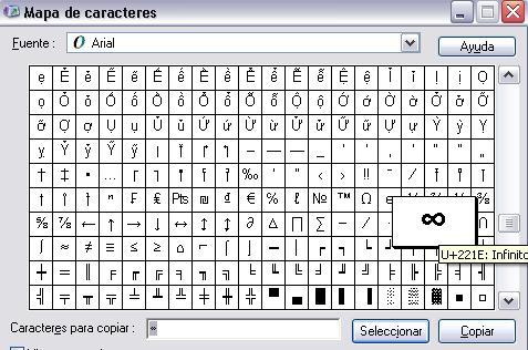 Infinity alt code?