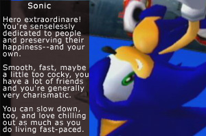 what sonic character are you like?