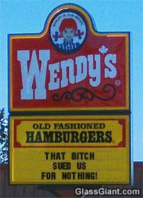 Wendy's resturant advertises NG!