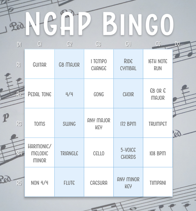 NGAP BINGO CONTEST 2018 Submissions