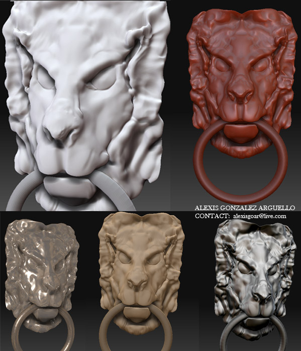 Zbrush 3d lionehad