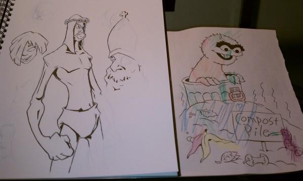 some sketchbook doodles