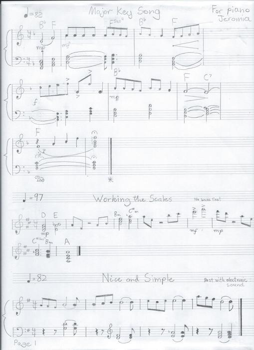 Handwritten Music Sheets