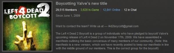 A Boycott against left 4 dead 2?
