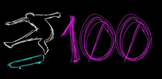 100 Frame Skate Collab