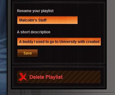 How to delete playlist?
