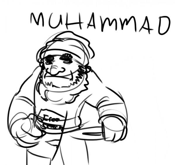 Muhammad Cartoon. Who to criticize