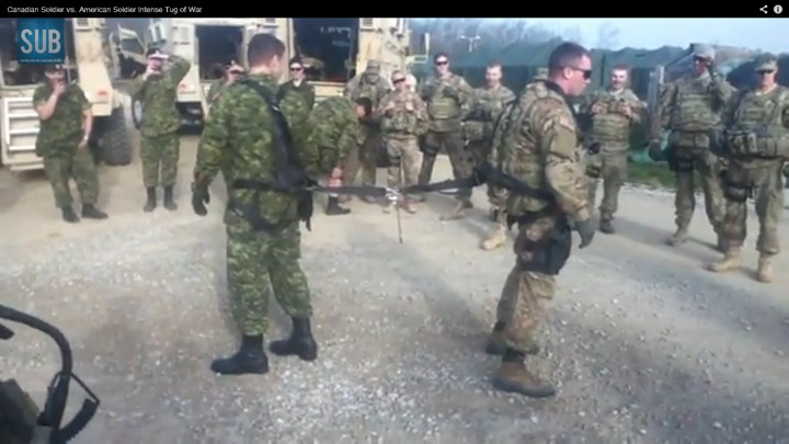 Canadian Military vs Americans !